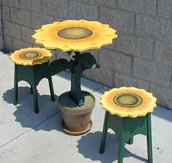 Outdoor Table/Stool Set